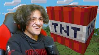 جربت اخطر مود تي ان تي في ماين كرافت Minecraft TNT!!