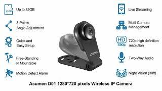 Best Baby Monitor Indoor Wi Fi Wireless IP Camera Acumen D01