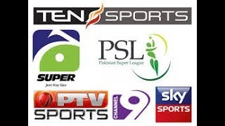 PSL 2018 live streaming tv channel list | PTV sports ten sport and Geo Super live telecast in PSL 3