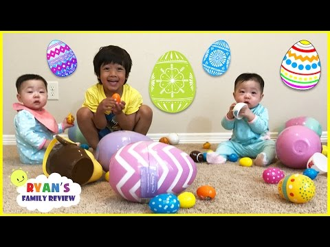 Easter Egg Hunts for the first time with twin babies on Ryan's Family Review