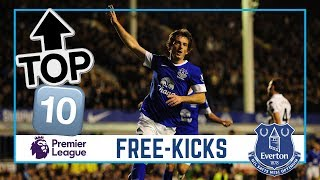 TOP 10: PREMIER LEAGUE FREE-KICKS | BAINES, ARTETA, LUKAKU, BARKLEY