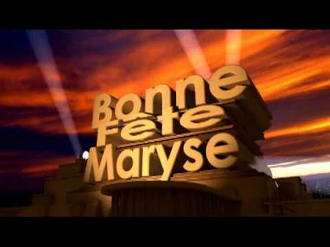 Bonne Fete Maryse Youtube