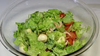 Салат с моцарелла и помидорами / Salad with mozzarella and tomatoes | Видео Рецепт
