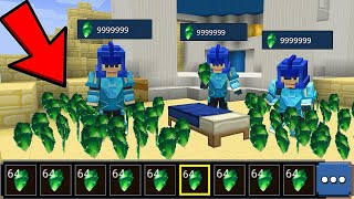 Фото How To Duplicate Unlimited EMERALDS Giving Noobs Unlimited Emeralds In Bedwars - Blockman Go