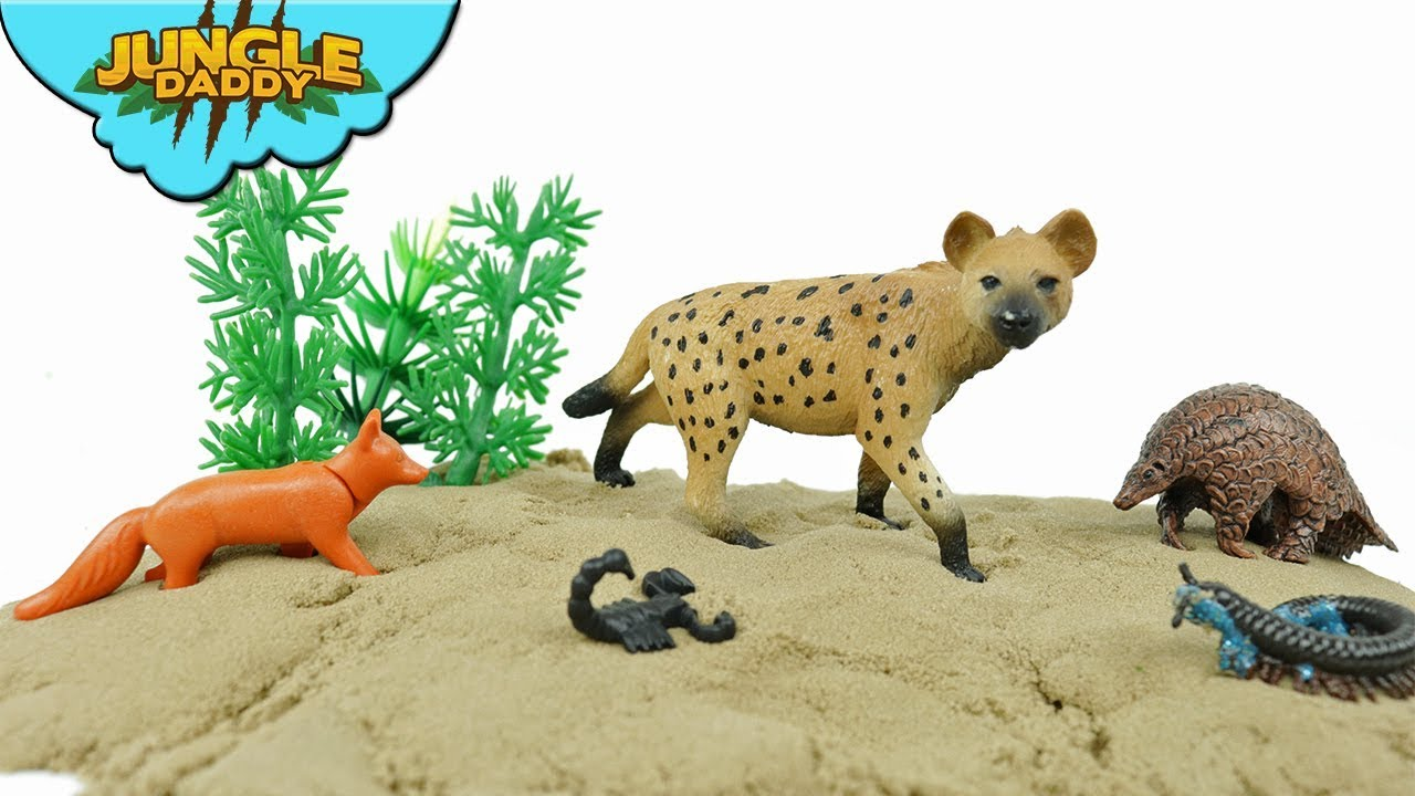 Learn Animals Habitats - Desert Ocean Arctic Farm Zoo animals for kids toys