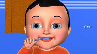 This Is The Way We Brush Our Teeth - 3D Nursery Rhymes & Song For Children