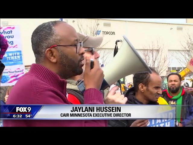 Video: CAIR-Minnesota, Community Groups Protest Trump's Tweet Endangering Rep. Ilhan Omar