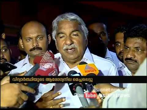Suicide attempt on Cusat campus; Oommen Chandy visists victim at hospital