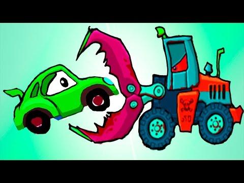 Машина Ест Машину - Хищные Машины - ИГРА как мультик Для детей - 2 часть - Серия 3#