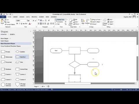 Creating Process Map With Microsft Visio