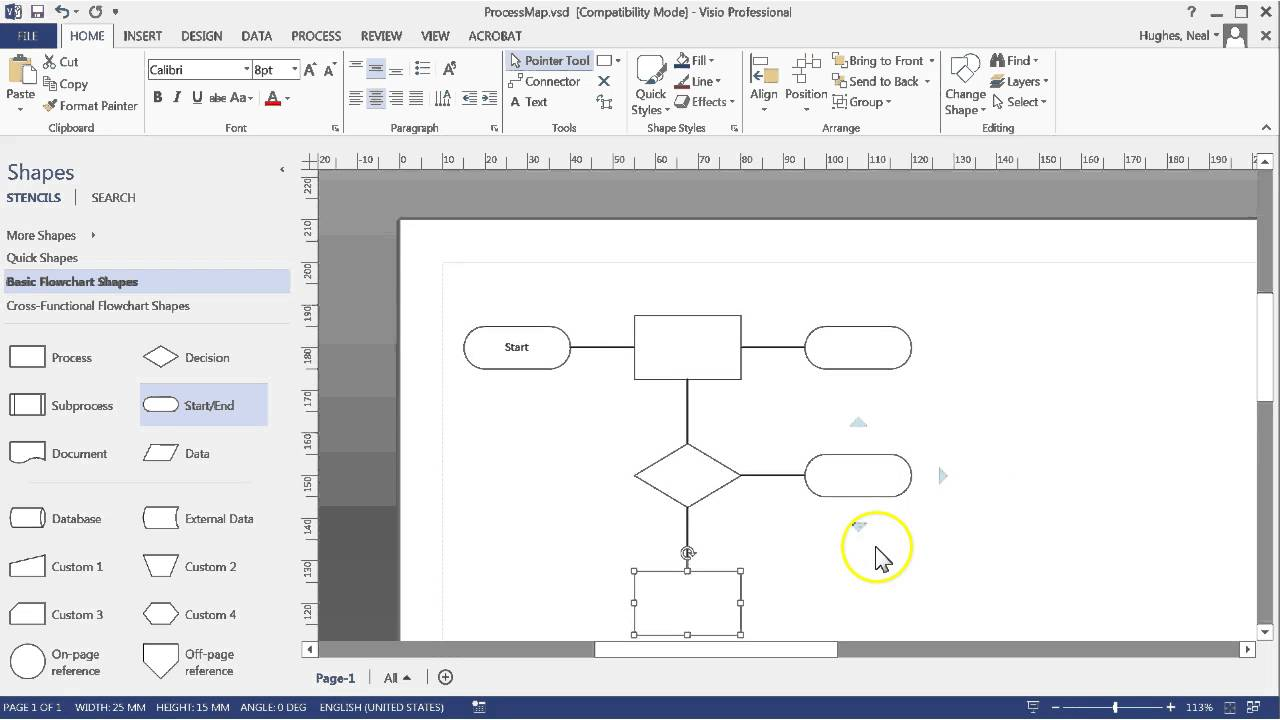 Creating a process map with microsft visio youtube cheaphphosting Gallery