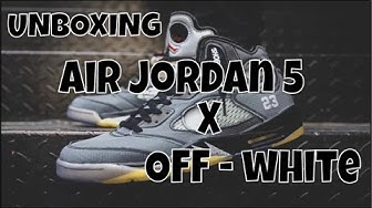 UNBOXING OFF WHITE X AIR JORDAN V