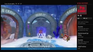 Getting Platinum Trophy in Crash Bandicoot 2 - Na żywo