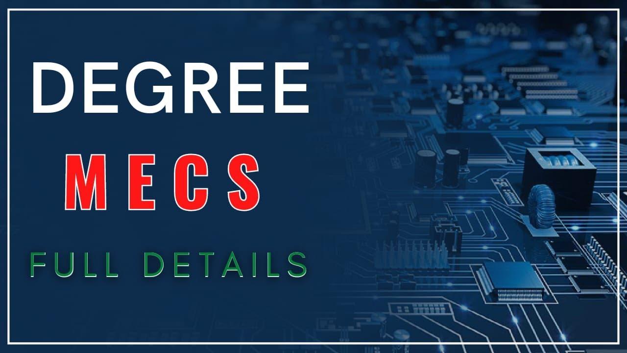 Download Mecs course details | mecs course full details in telugu | degree mecs course details | Bsc cource