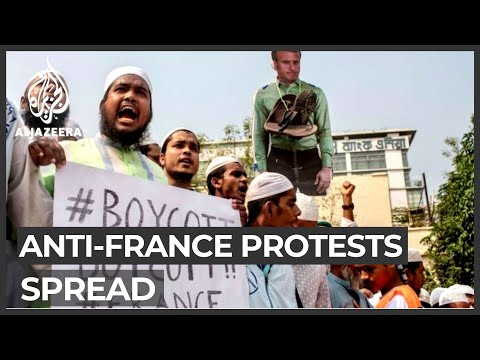 Anti-France protests spread globally