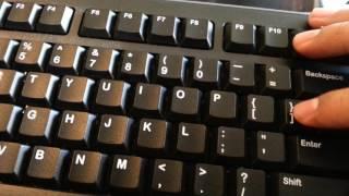 Presionar los símbolos del teclado con la tecla SHIFT   Teclado en inglés
