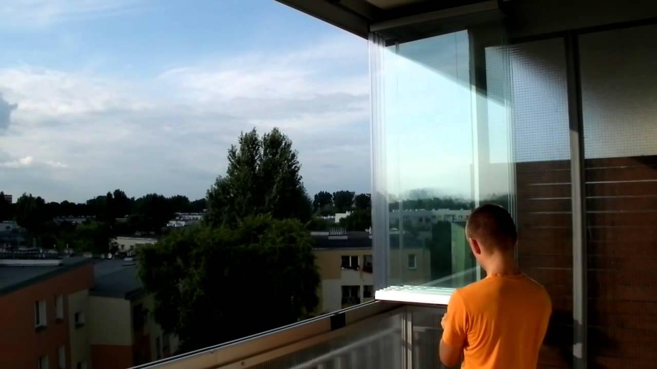 Otwieranie Zabudowy Balkonu W Systemie Bezramowym Balkonlux Pl Youtube