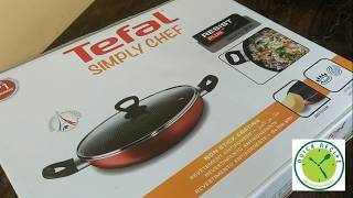 Tefal Nonstick Kadhai With lid 28 Cm Review and Unboxing || Tefal  Kadhai Review