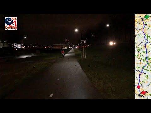An evening bike ride from Utrecht to 's-Hertogenbosch (long version)