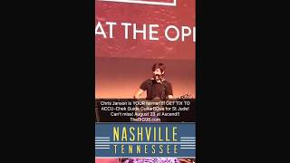 Chris Janson Who's Your Farmer exclusive backstage Opry FixADrink night at the Opry.