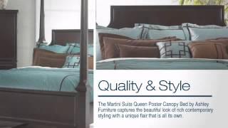 Martini Suite Queen Poster Canopy Bed - Colemanfurniture.com