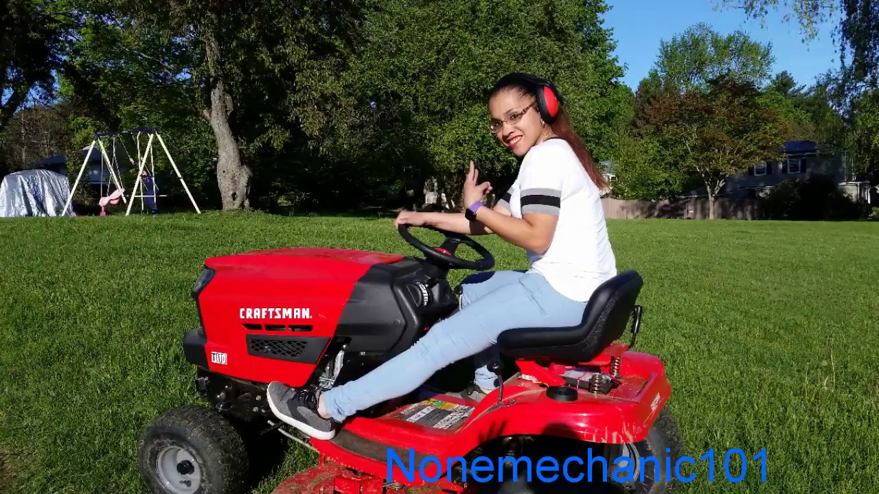 I messed up your lawn  Craftsman Lawn Mower T110