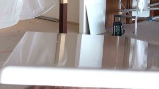 Painting Kitchen Cabinets - How To Paint Kitchen Cupboards Using An Airless Paint Sprayer.