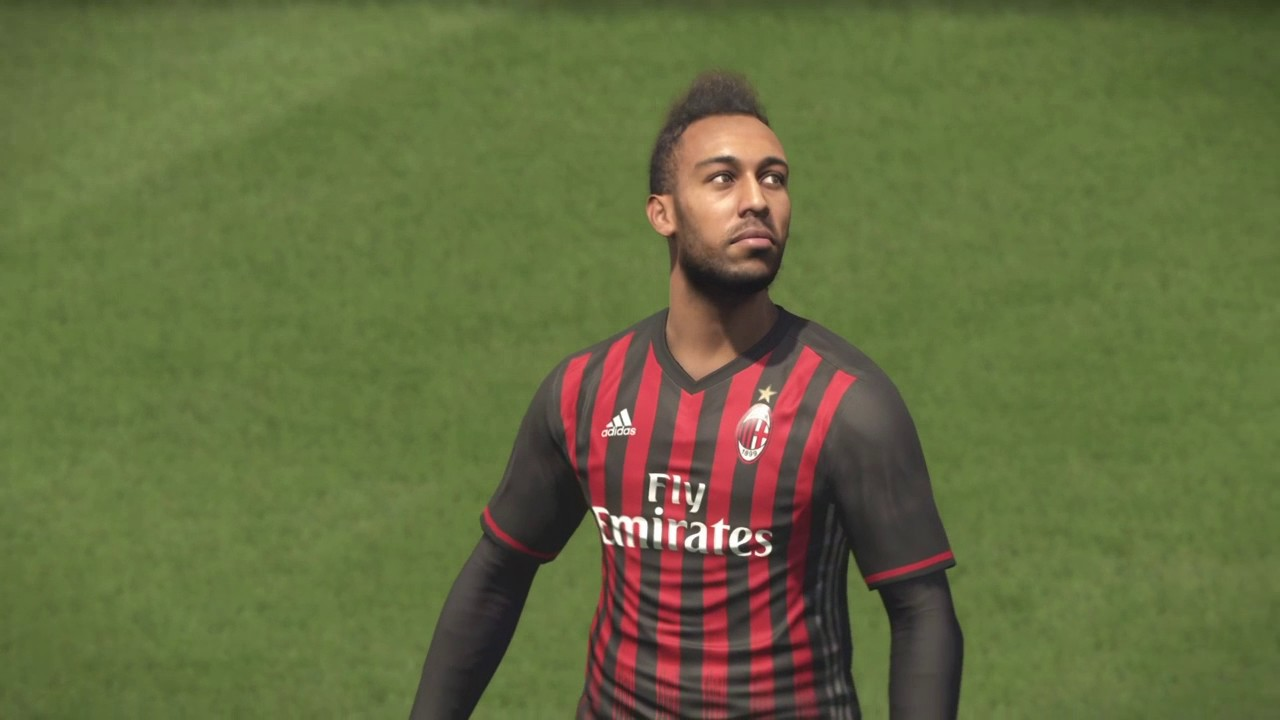 aubameyang ac milan comeback debut youtube