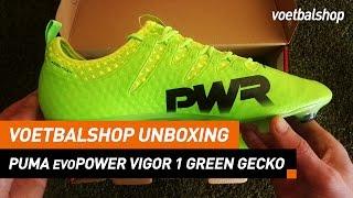 "Voetbalshop Unboxing | PUMA evoPOWER Vigor 1 ""Green Gecko"""