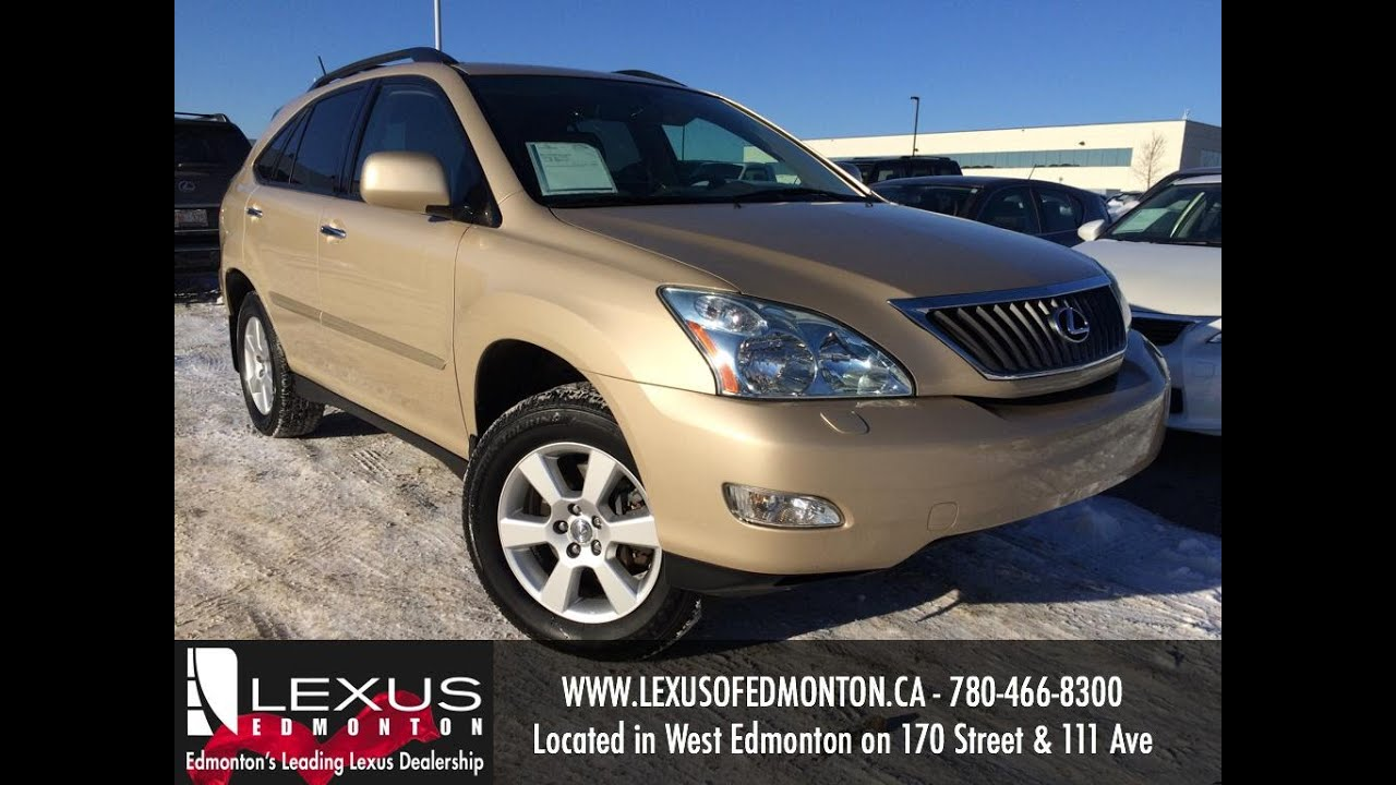Used Gold 2009 Lexus Rx 350 4wd Review Drumheller Alberta