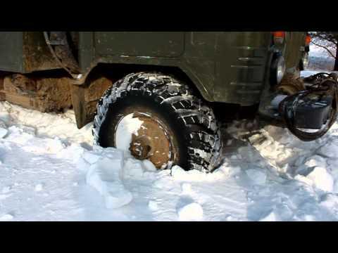 ГАЗ 66 GAZ66 застрял в снегу