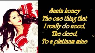 Ariana Grande ft Liz Gillies- Santa Baby lyrics