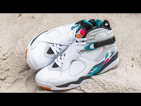 7066974fd572 Jordan 8 South Beach Unboxing And Review - YouTube