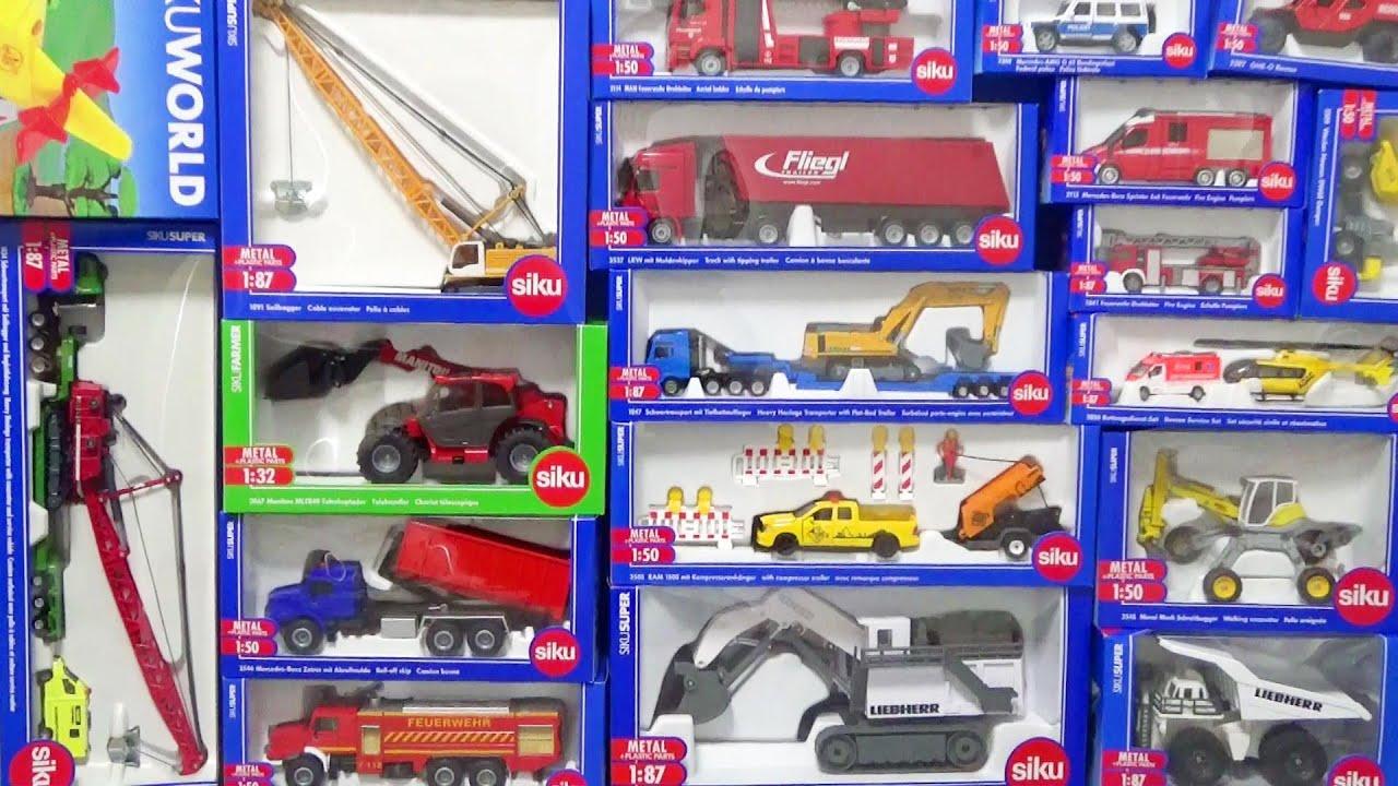Download siku(ジク)の大型車両は大迫力!消防車、ダンプカートラック、クレーン車、飛行機を開封して遊ぼう♪