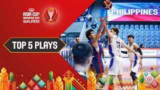 Gilas Buzzer Beater & More   Nike Top 5 Plays   FIBA Asia Cup 2021 Qualifiers