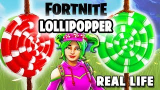COMMENT FAIRE LOLLIPOPPER EN VRAI VIE!! DIY FORTNITE BATTLE ROYALE Dcrafting
