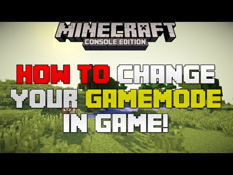 Minecraft Xbox Playstation How To Change Your Gamemode In