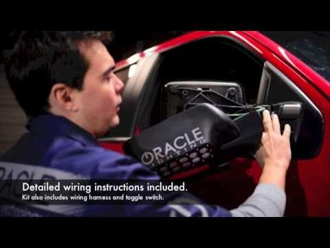 Ford F-150/ SVT Raptor Truck ORACLE LED Off-Road Mirror Installation DIY Video