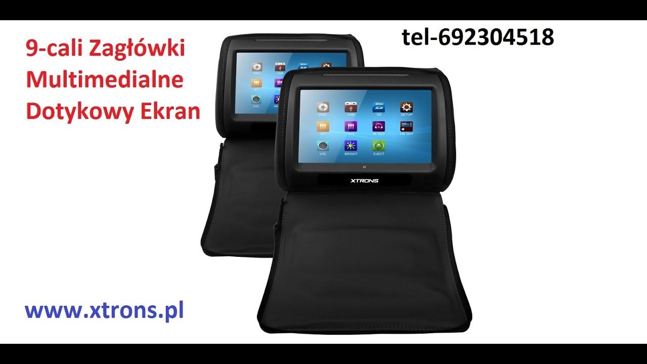 www xtrons pl Zagłówki multimedialne 9 cali dotykowy Ekran FEEILINNG24