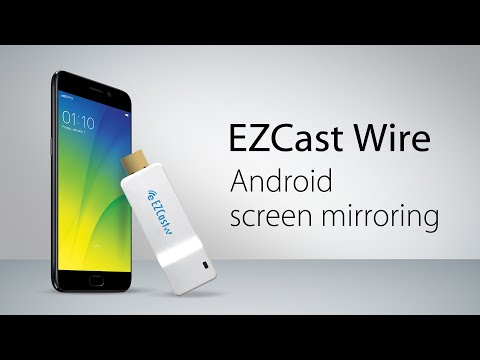 Plug and play Android screen mirroring with EZCast Wire