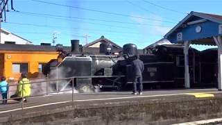 大井川鉄道 新金谷駅 SLかわね路 出発!