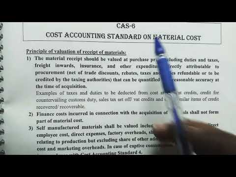 CAS-6 COST ACCOUNTING STANDARDS ON MATERIAL