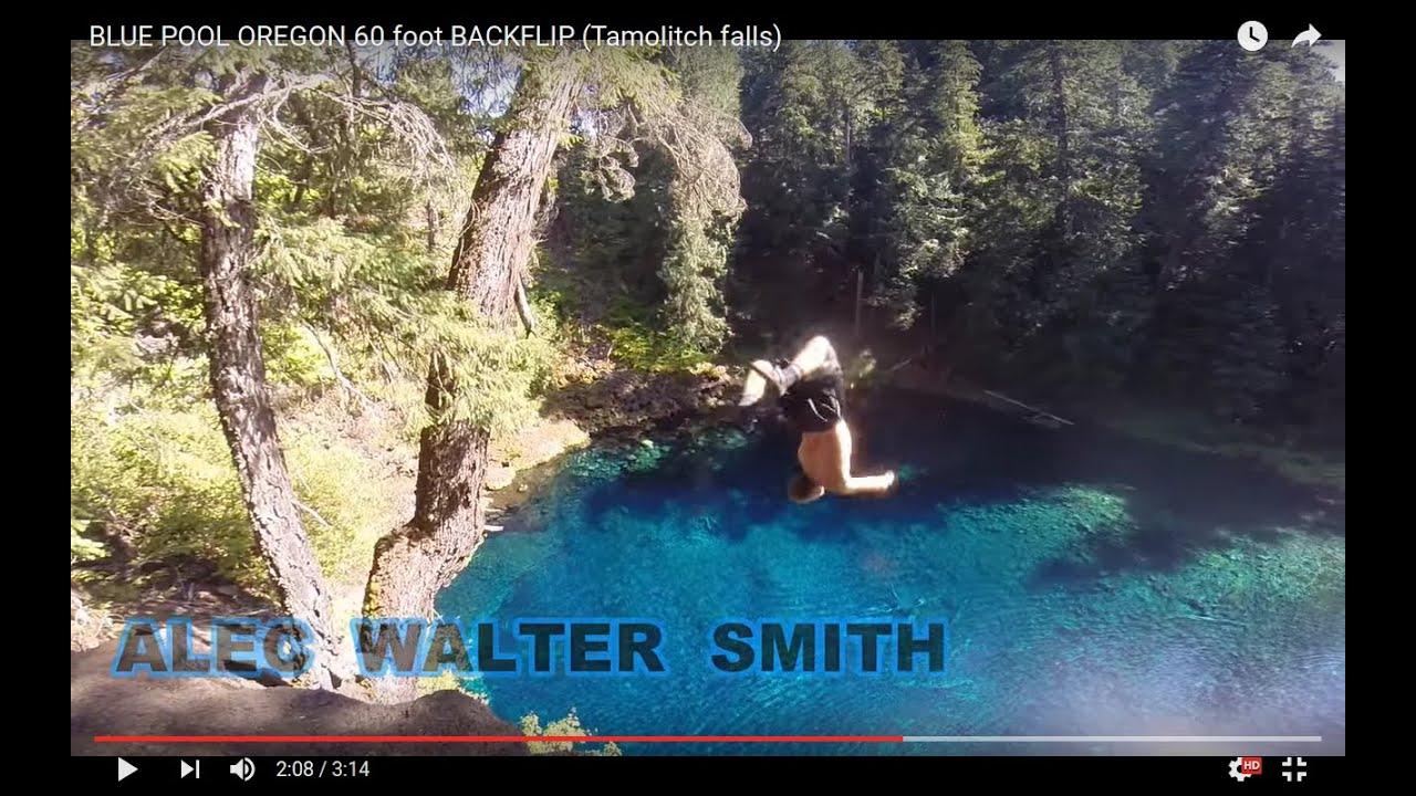 BLUE POOL OREGON Jumps And BACKFLIP HD (Tamolitch Falls)   YouTube