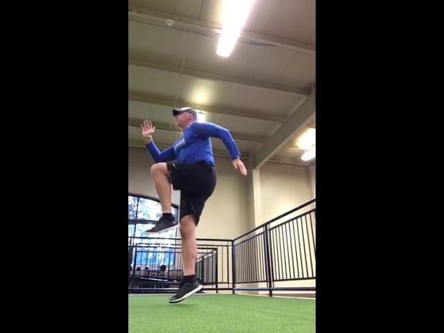 Athleticover40 reverse lunge & hop