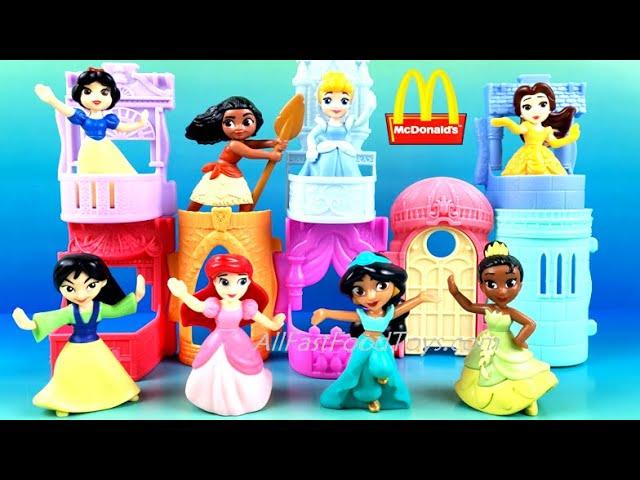 Mcdonalds 2021 Christmas Toy Line 2021 Mcdonald S Disney Princess Happy Meal Toys Full Set 8 Build Castle April May Star Wars Raya Usa Youtube