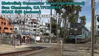 Metrolink Commuter Train San Clemente, CA [HD]