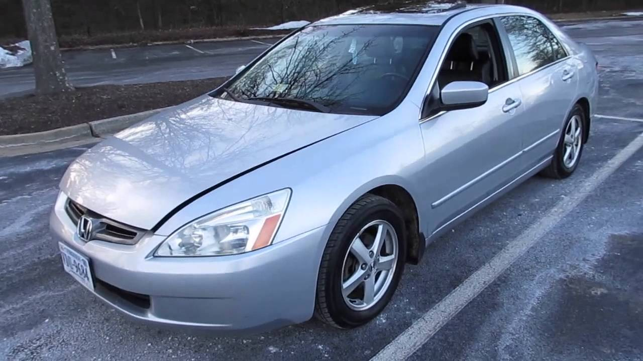 Honda Accord Ex-L >> 2003 Honda Accord EX-L 5-spd Updates and Quick Drive - YouTube