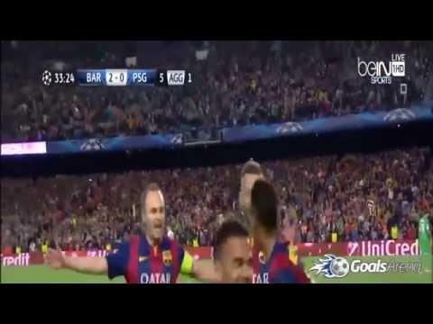 Barcelona vs PSG 2 0 - 21/04/2015 - All Goals & Highlights Champions League