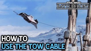 How to use Tow Cable • Snowspeeder Guide •  Star Wars Battlefront