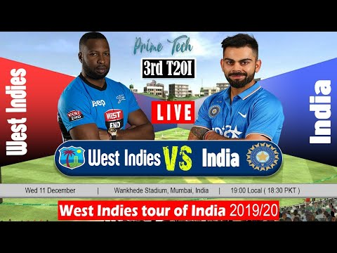 India V West Indies Live Streaming || Live Online Cricket Match Today || Ind VS WI 3rd T20